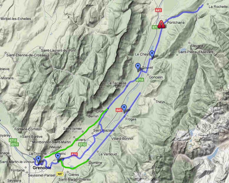 Rhone Alpes Voies Cyclables Voies Vertes Pistes Cyclables Et Veloroutes En France